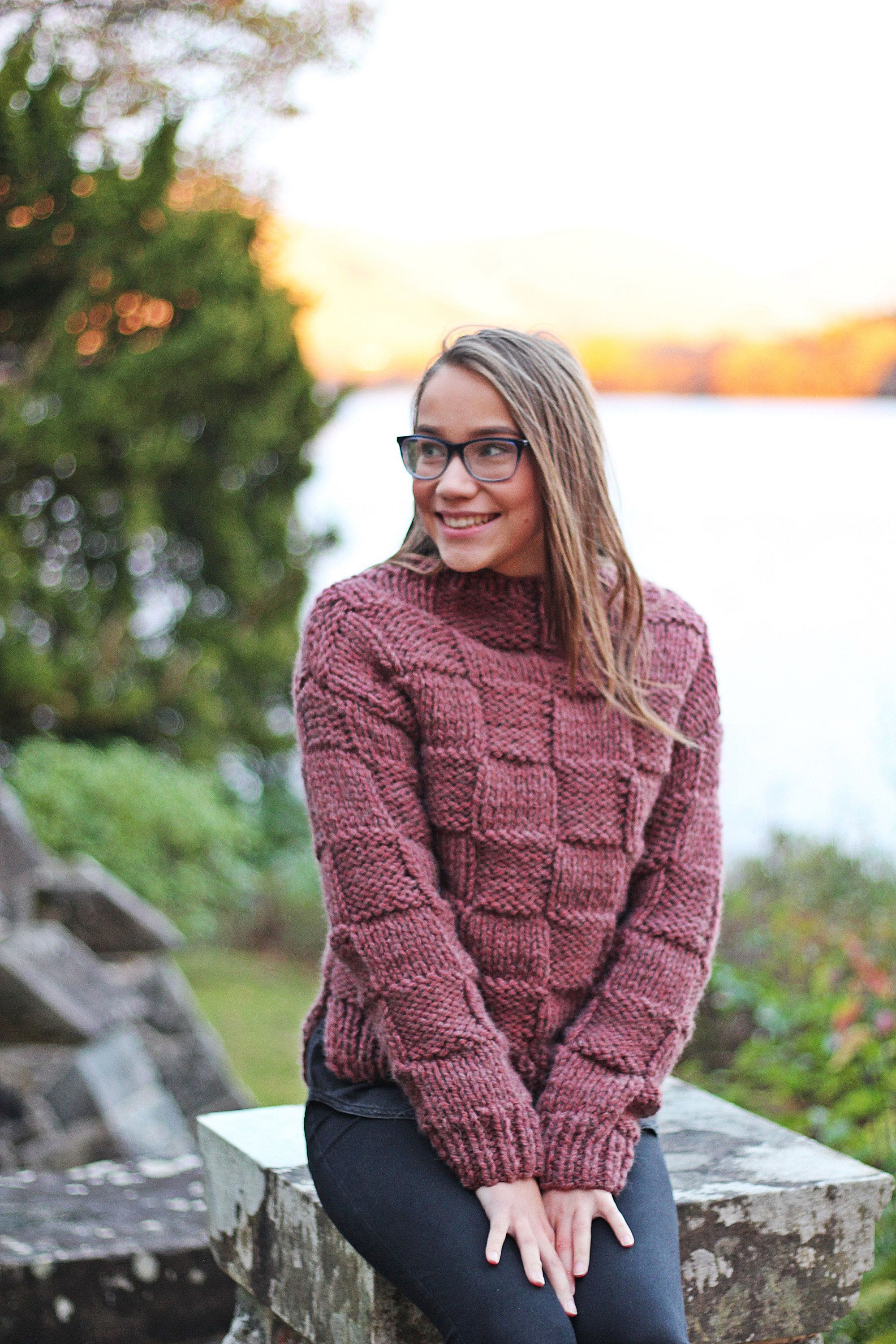 Knitting PATTERN - Rouille sweater pullover, womens teens ...