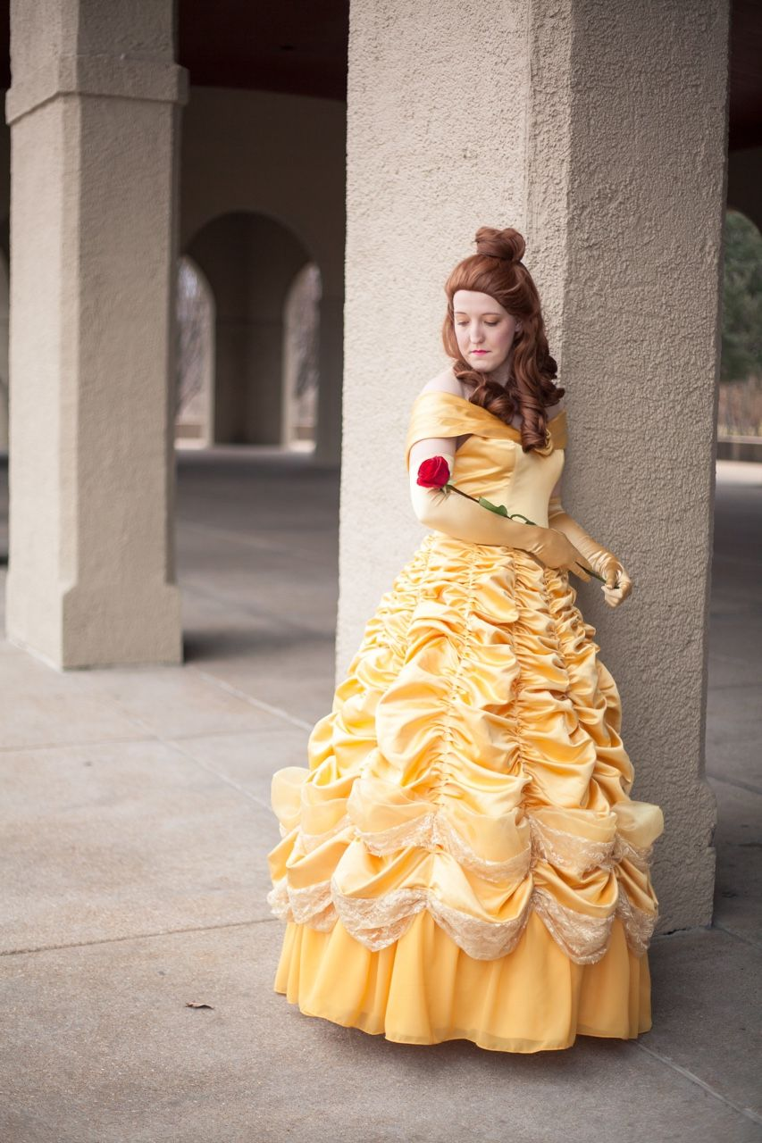 Once upon a time belleus original yellow ballgown cosplay pinterest