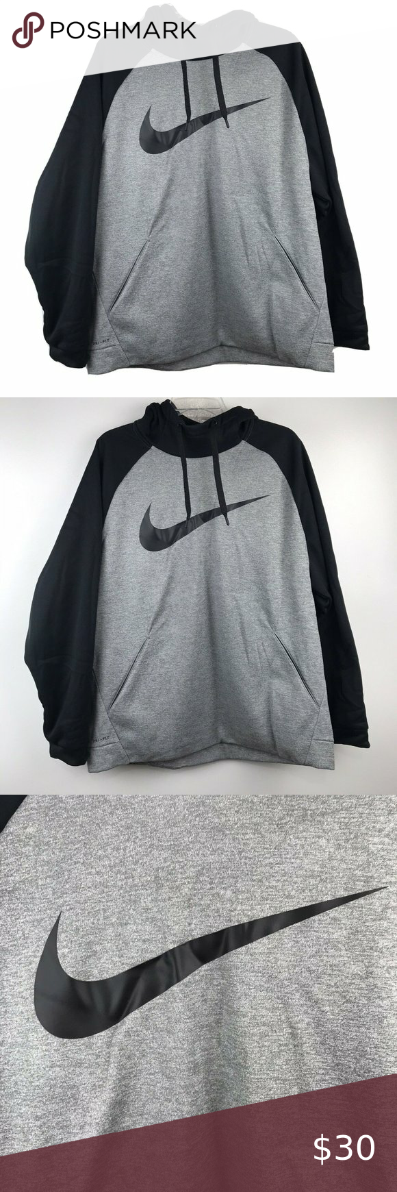 Nike Dri Fit Hoodie Sweatshirt Size Mens Xl From Nike Dri Fit Size Xl Laying Flat It Measures Undera Nike Dri Fit Hoodie Sweatshirts Hoodie Workout Hoodie [ 1740 x 580 Pixel ]