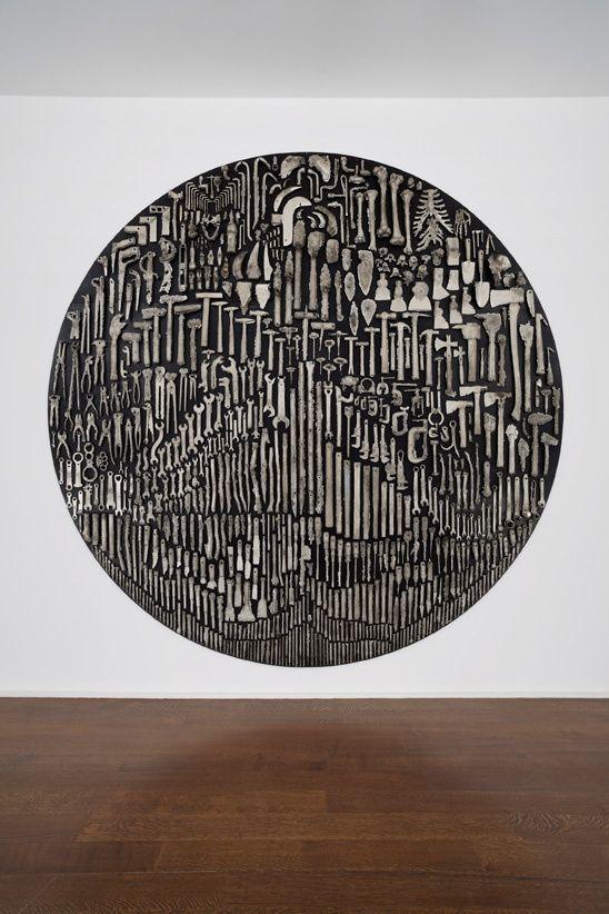 History — Nick van Woert, 2012White bronze and steel304cm diameter x 7.6cm depth120 inch diameter x 3 in depth