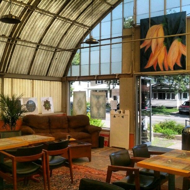 Garden Sheds Rochester Ny repurposed greenhouse coffee shop, rochester ny | architecture