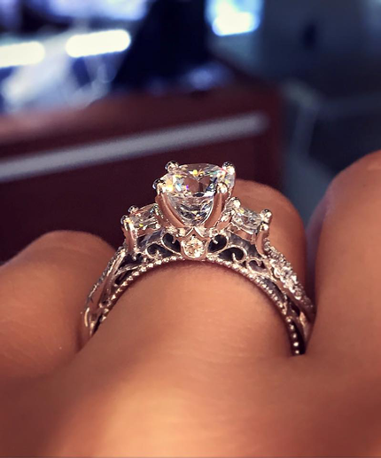 This Is The Engagement Ring Of 2016 According To Pinterest Via Mydomaine Most Popular Engagement Rings Popular Engagement Rings Big Wedding Rings
