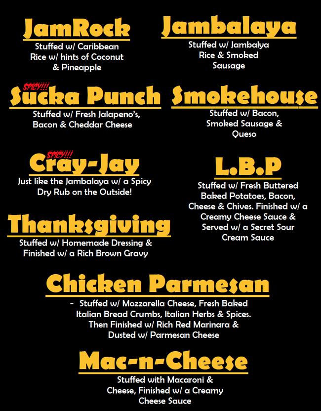 2 Fat 2 Fly Stuffed Chicken Wings Flavors Wings In 2019