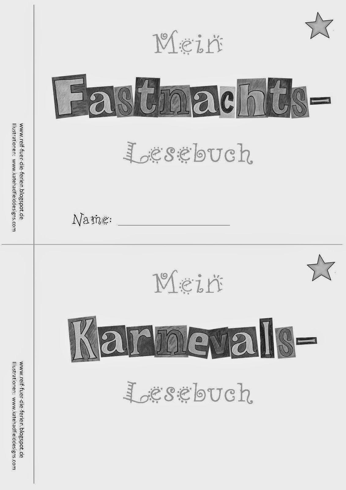 Reif Fur Die Ferien Fasching Karneval Fastnacht Material Fur Die