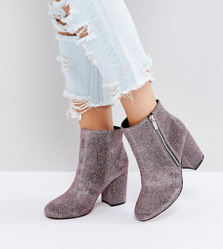 Asos Regan Wide Fit Kitten Heel Ankle Boots Pink Kitten Heel Ankle Boots Fashion Latest Fashion Clothes