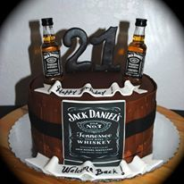 Stupendous 21St Birthday Cake For A Guy Jack Daniels Whiskey Cake Little Personalised Birthday Cards Beptaeletsinfo