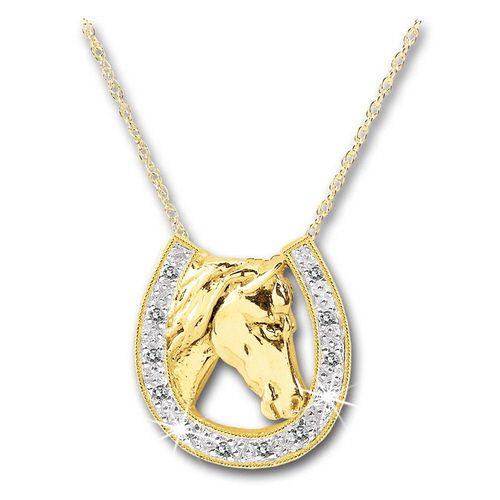 Discontinueddiamond horseshoe pendant a majestic horses head a discontinueddiamond horseshoe pendant a majestic horses head a gold aloadofball Choice Image