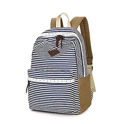 doublemay neu jugendliche m dchen schulrucksack fashion damen canvas rucksack teenager. Black Bedroom Furniture Sets. Home Design Ideas