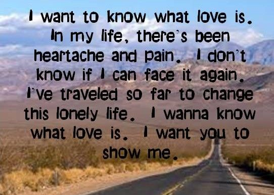 I Want To Know What Love Is Foreigner Lyrics All Time Favorite