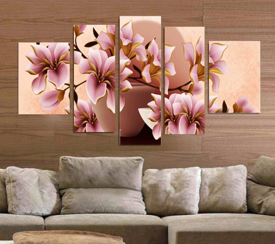 Beautiful Vivid 3 Piece Floral Flower Multiple Floral And Size Choices Ash Wall Decor W Cuadros De Paisajes Decoracion Con Cuadros Ilustraciones Florales