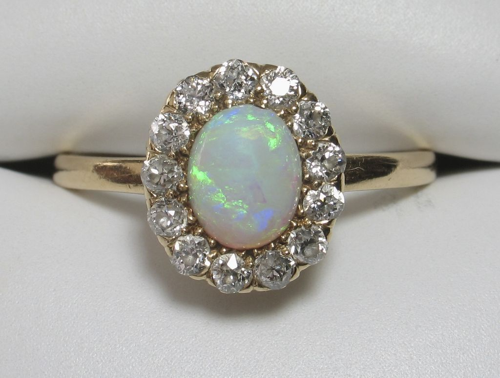 899e6c78a Gorgeous 18k TIFFANY Opal Diamond Ring from divinefind on Ruby Lane ...