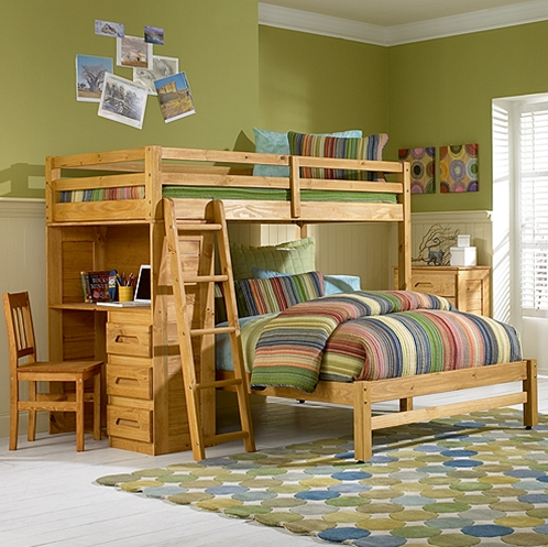 Merlot Bunk Bed Twin Over Full Bunk bed plans, Bunk bed