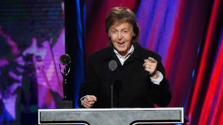 BEATLES MAGAZINE: PAUL INDUCTS RINGO INTO ROCK HALL OF FAME