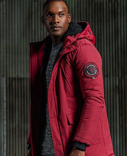 62d8ee61321 Superdry Everest Parka Jacket Red