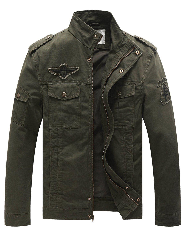 a91de75fcc8 WenVen Men s Fashion Cotton Jackets