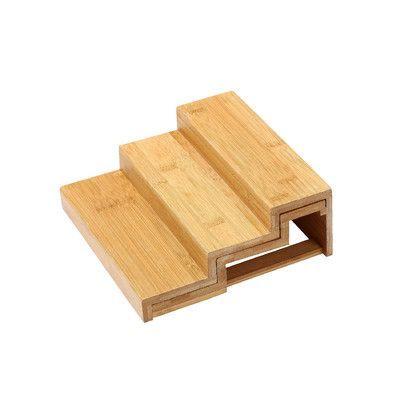 YBM Home Bamboo Spice Rack Step Shelf Organizer Size: 10x8x3