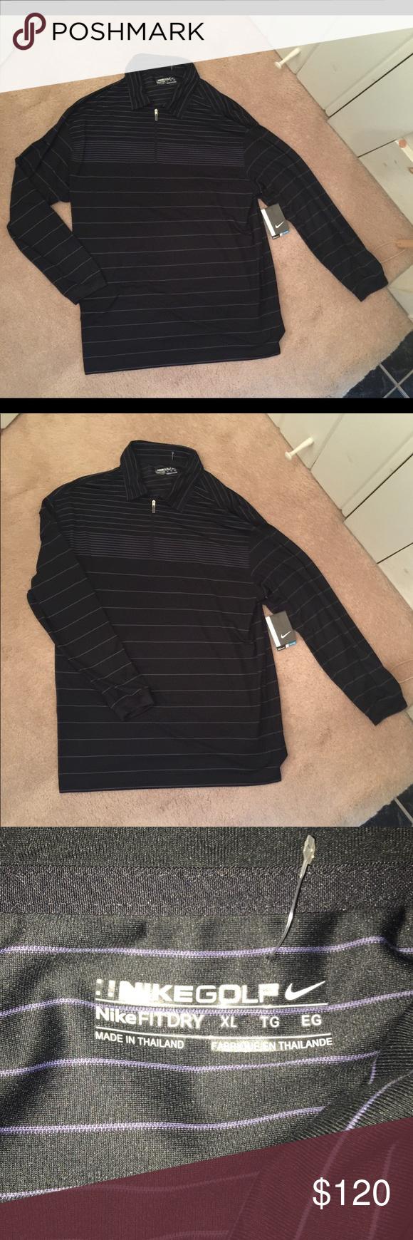HP Nike Golf Fit Dry zip shirt NWT Pinterest