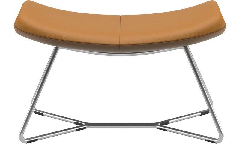 Pufs - reposapiés Imola - En marrón - Piel   muebles   Pinterest ...