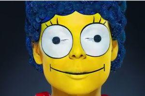 Real Life Marge Simpson Model Kate Moukhina Makeup Veronica Ershova Hair Mikhail Kravchenko Photographer Alexander Kholov
