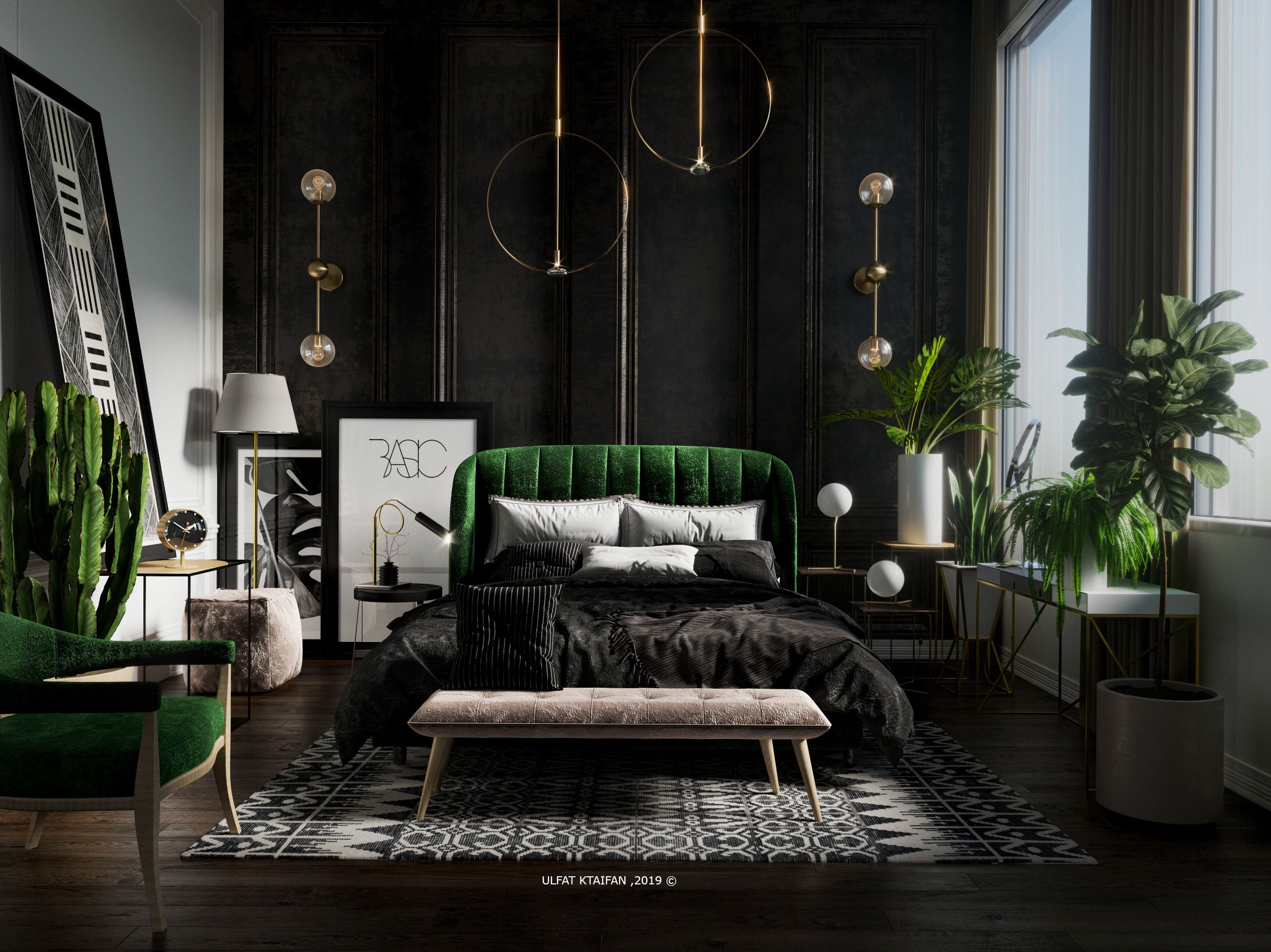 Check Out My Behance Project Green Bedroom Urban Jungle