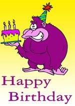 Printable Monkey Birthday Card