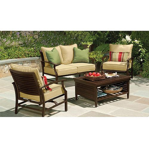 purchase the shutter 4 piece patio conversation set for less at walmartcom