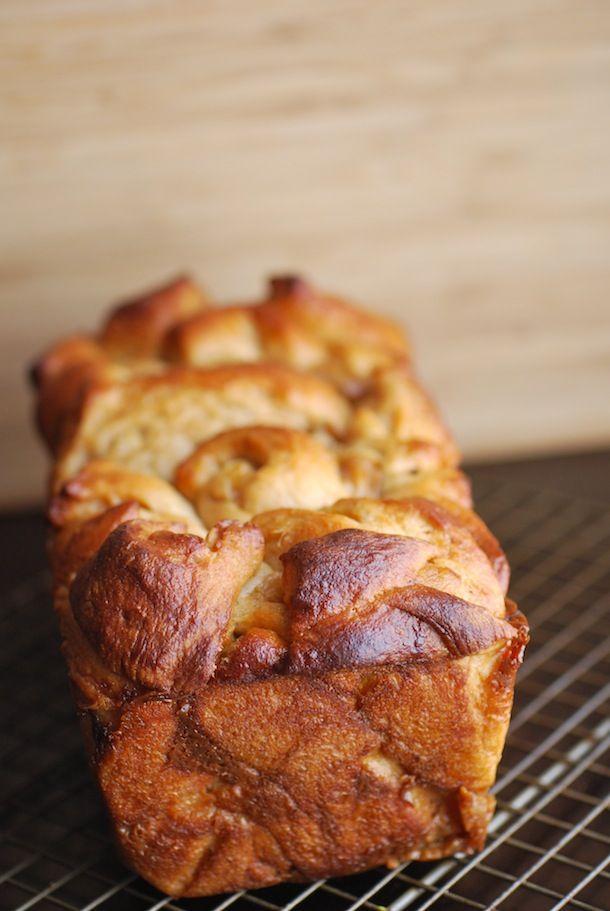Cinnamon Dulce de Leche & Poached Pear Chopped Bread from @Alejandra Ramos