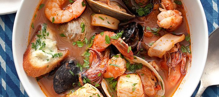 cioppino in a pot / Photo by Charles Masters, food styling by Sue Li