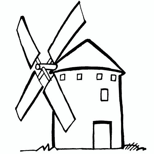 Molino De Viento Molinos De Viento Quijote Dibujo Viento Dibujo