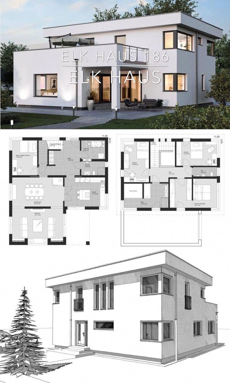 Modern Bauhaus Villa House Plan Architecture Design Ideas Elk Haus 186 Architetturaconte Home Building Design Modern Architecture House Architecture Design