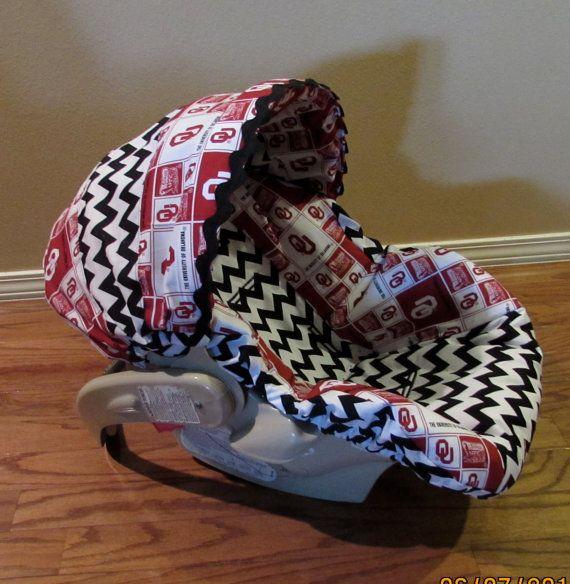 Boutique Infant Car Seat Cover (OU Fans) | Car seats, Seat covers ...