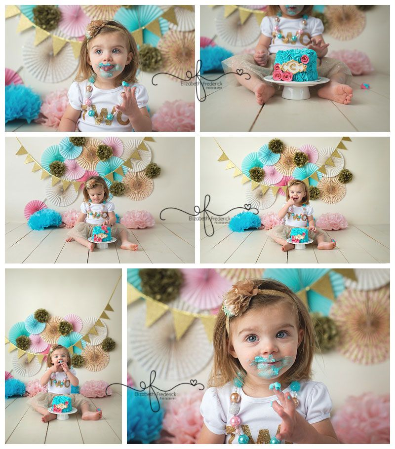 2 Year Old Smash Cake Session 2nd Birthday Photography