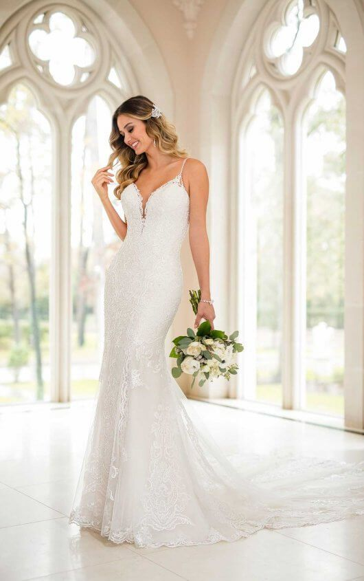 Modern Fit and Flare Wedding Dress | Stella York Bridal Gowns in ...