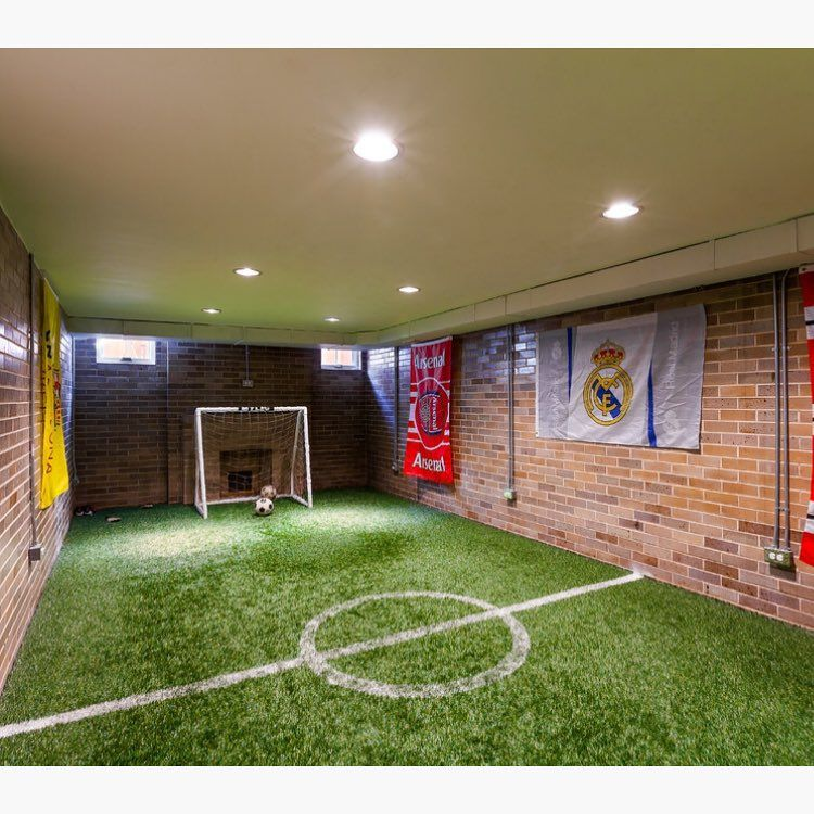 If I Ever Have A Boy An Indoor Soccer Field Would Rock M N Bat Tag Friends Who Love This In Their Home