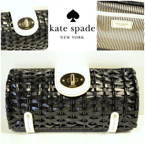 This is the clutch that you will carry all summer long! A classic black and white color combo will go with every outfit!  Kate Spade Clutch - $88.98  - #nashville #hip2flip #consignment #designerconsignment #katespade