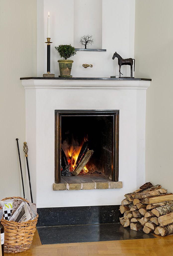 really nice simple fireplace | Fireplace design, Simple ...