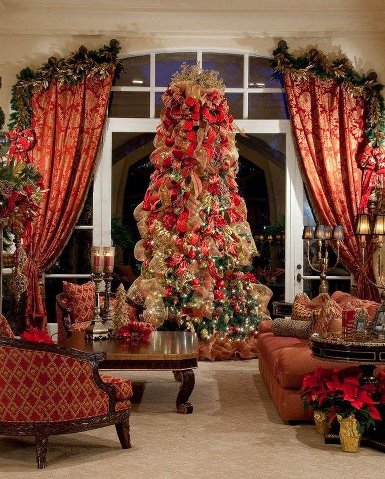 53 Popular Christmas Decoration Ideas Living Room Fun Christmas Decorations Christmas Interiors Beautiful Christmas Christmas decorations for living room