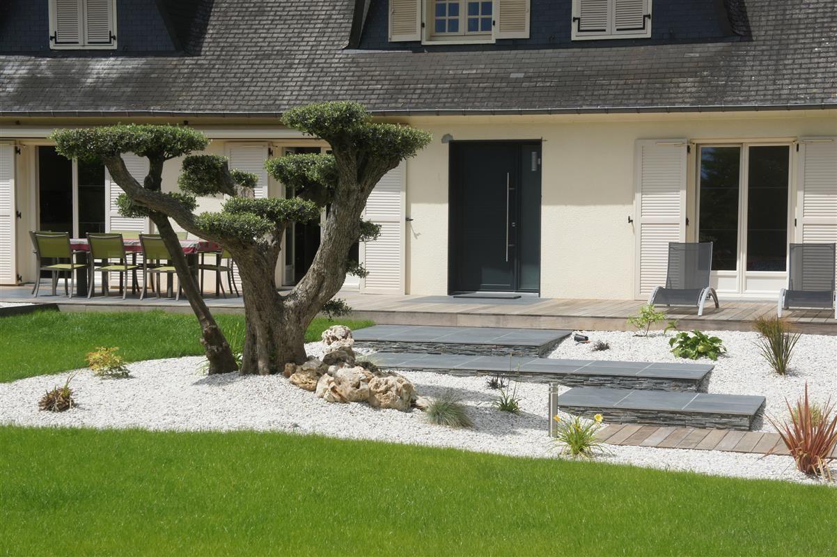 Entrée de maison - Réalisations paysagiste Rennes - Paysagiste ...