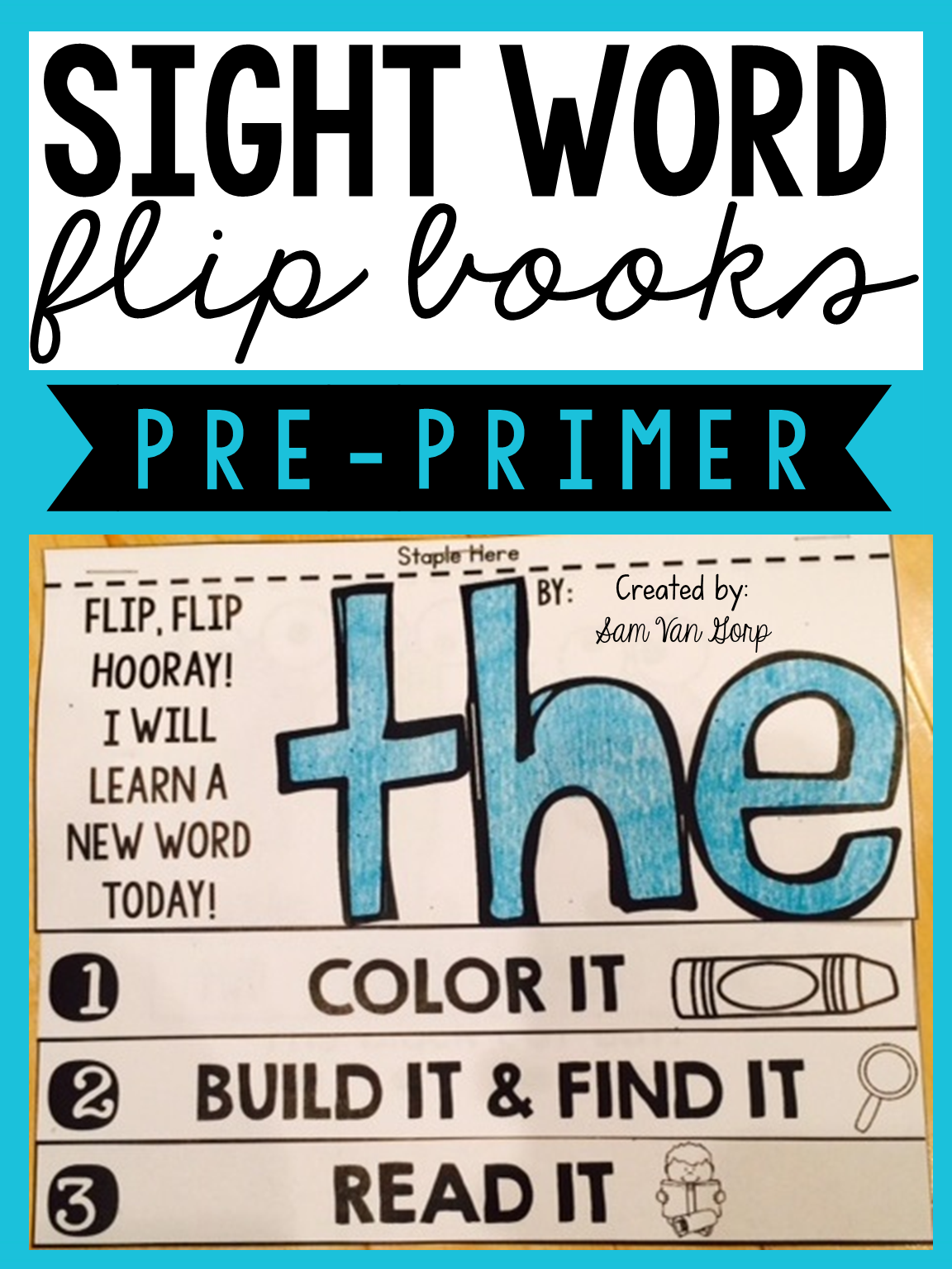 These NO FUSS, NO PREP interactive Sight Word flip books are an ENGAGING way to help teach students those tricky sight words!
