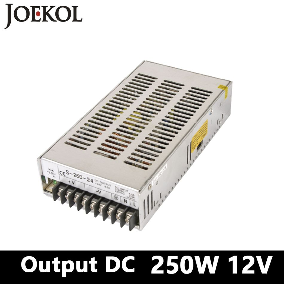 Switching Power Supply 250W 12v 20A,Single Output Ac-Dc Converter ...