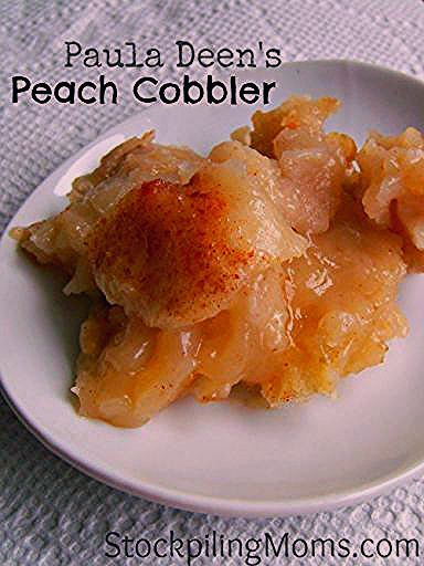 Photo of Paula Deen's Peach Cobbler