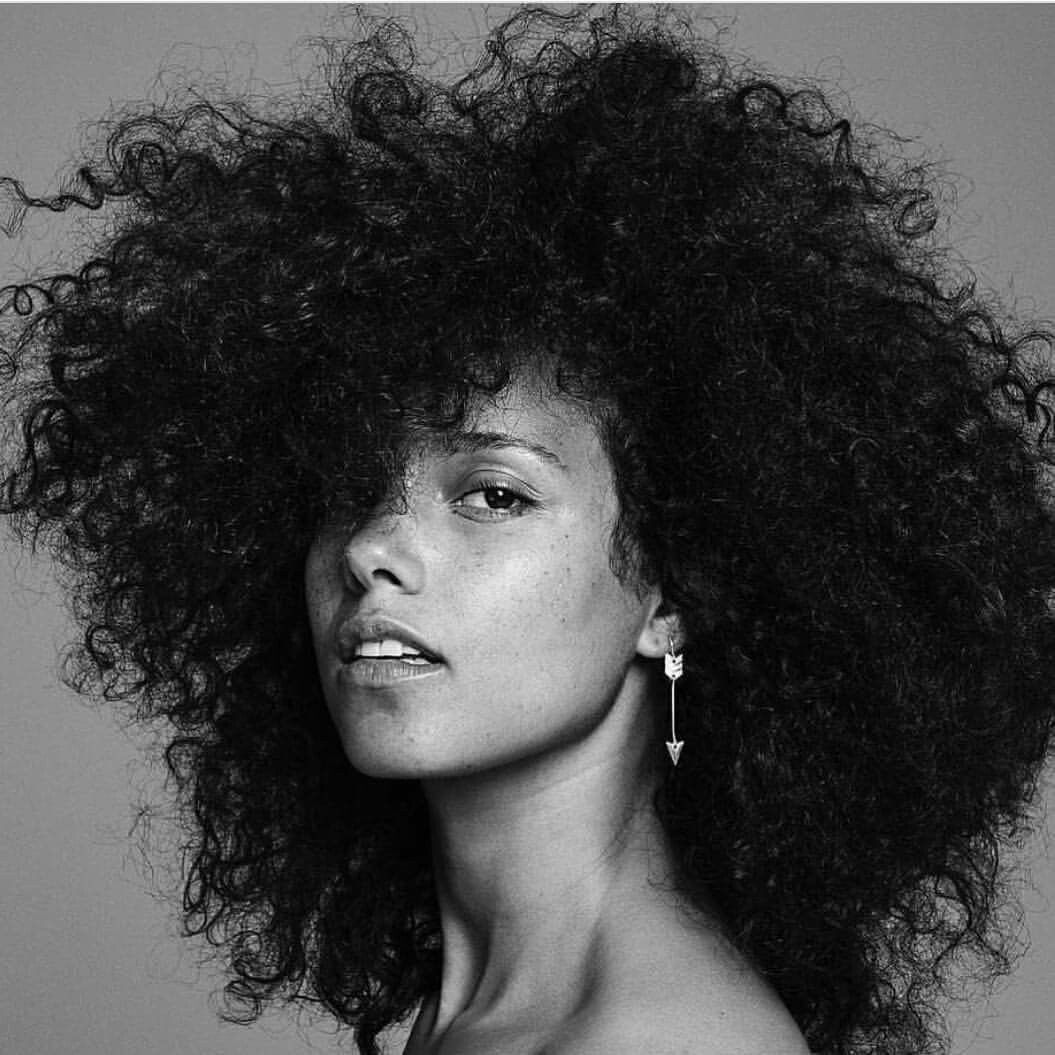 Alicia Keys No Makeup Natural Hair Gorgeous Natural