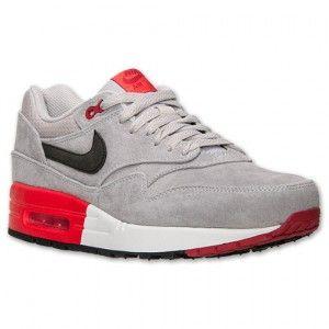 on sale 98866 2e373 Nike Air Max 1 Premium Heren Licht Ijzer Ore Zwart Rood Wit Schoenen kopen.  Factory Store Belgie