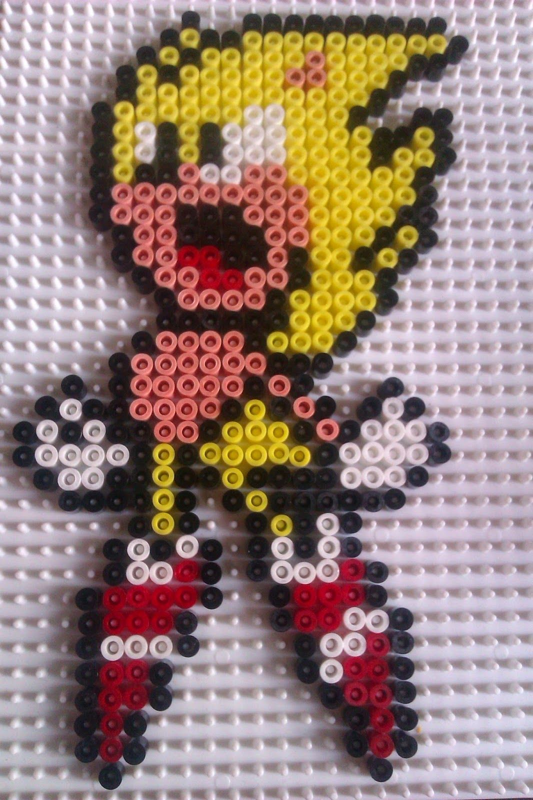 Sonic Hama Perler Beads By Sebastien Herpin Sonic Pixel Art