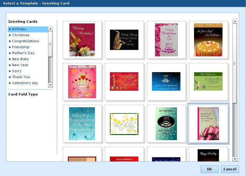 Online greeting and business card designer tool Online Product