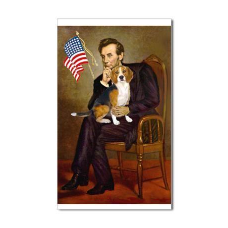 5 5x7 5 Lincoln Beagle7 Sticker Rectangle Lincoln S Beagle
