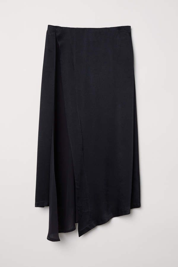 new concept 59717 f463d H&M H & M - Draped Skirt - Black - Women | Products | Draped ...