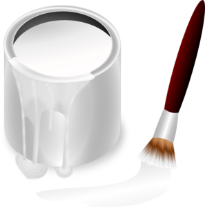 White Paint Bucket And Paint Brush Clip Art Vector Clip Art Online Royalty Free Public Domain Clip Art Pottery Painting Free Photoshop Resources