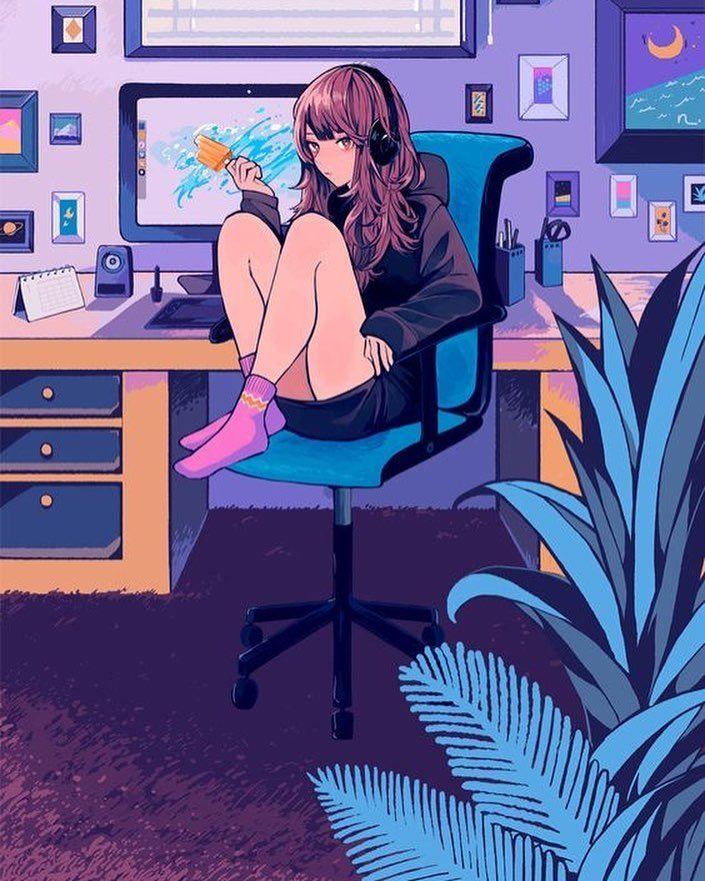 Girl anime pinterest gamer Free Anime