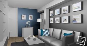 ambiance bleugriset blanc - Salon Bleu Et Gris